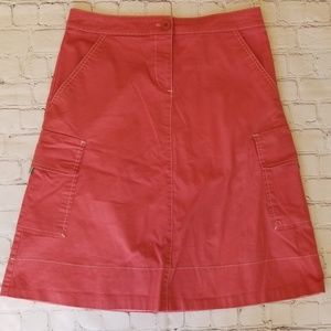 Anthropologie Sitwell Salmon Cargo Skirt